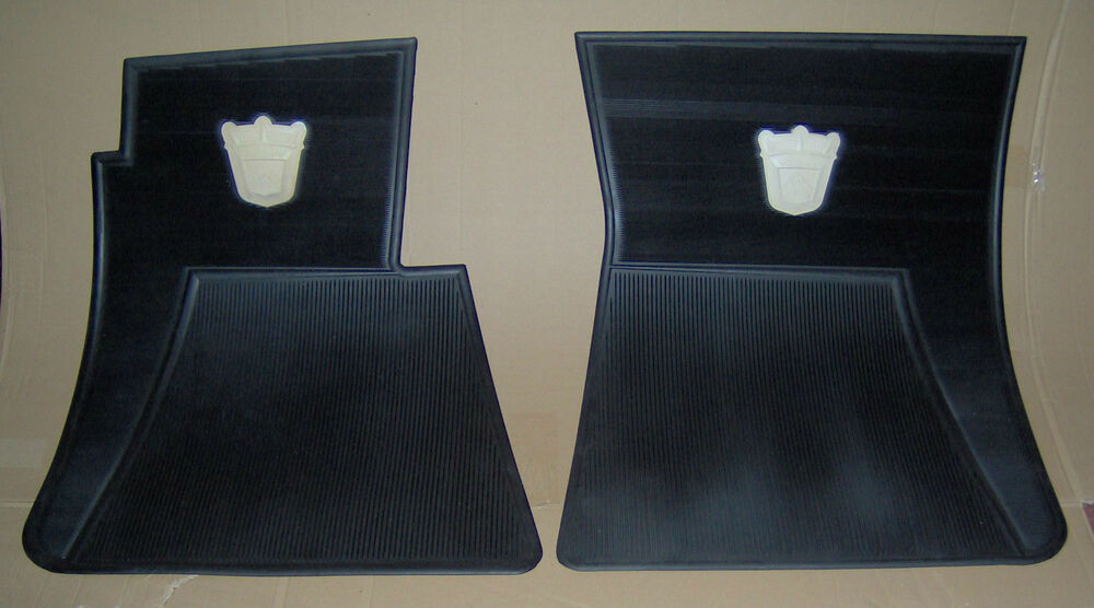 Nos 1955 1956 Ford Floor Mat Set W Crest 1952 1953 1954