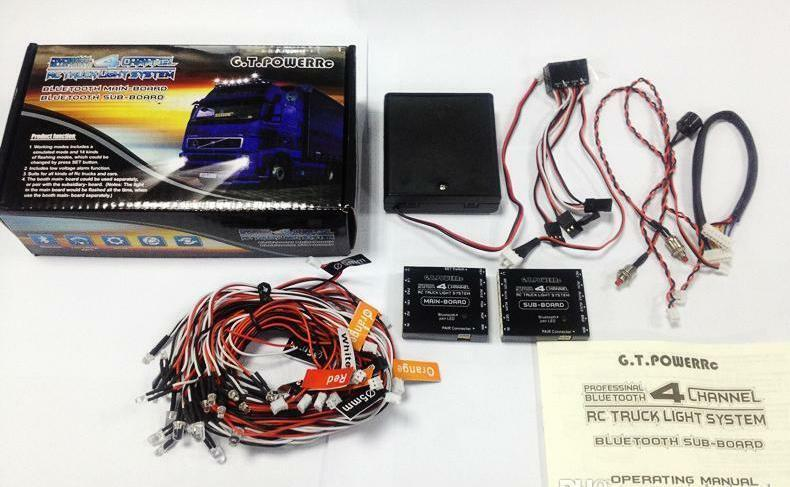Tractor Trailer Lighting System : Bluetooth ch rc truck led lighting system for tamiya