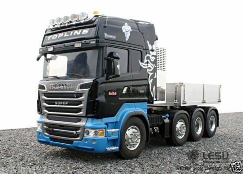 lesu 114 8x8 full metal tractor truck chassis fit r470