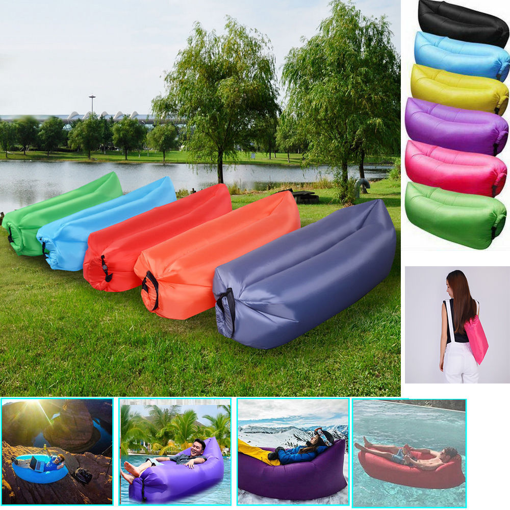 fasion fast inflatable sleeping air bag lazy sofa lounge. Black Bedroom Furniture Sets. Home Design Ideas