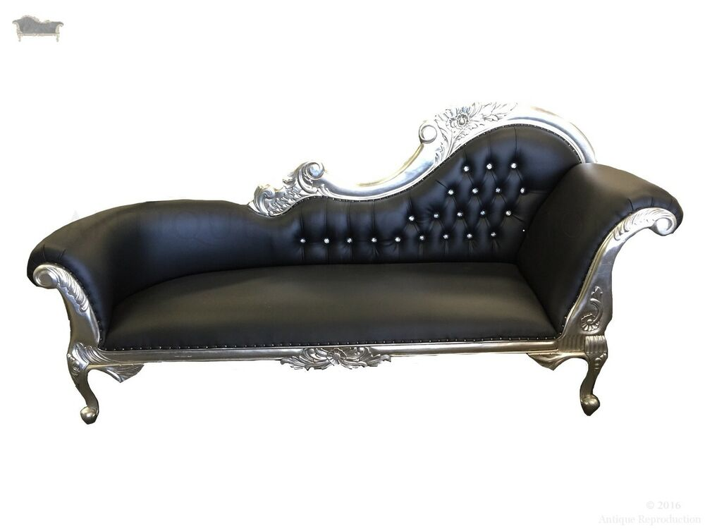 Chaise lounge french provincial sofa vintage antique for Antique french chaise lounge