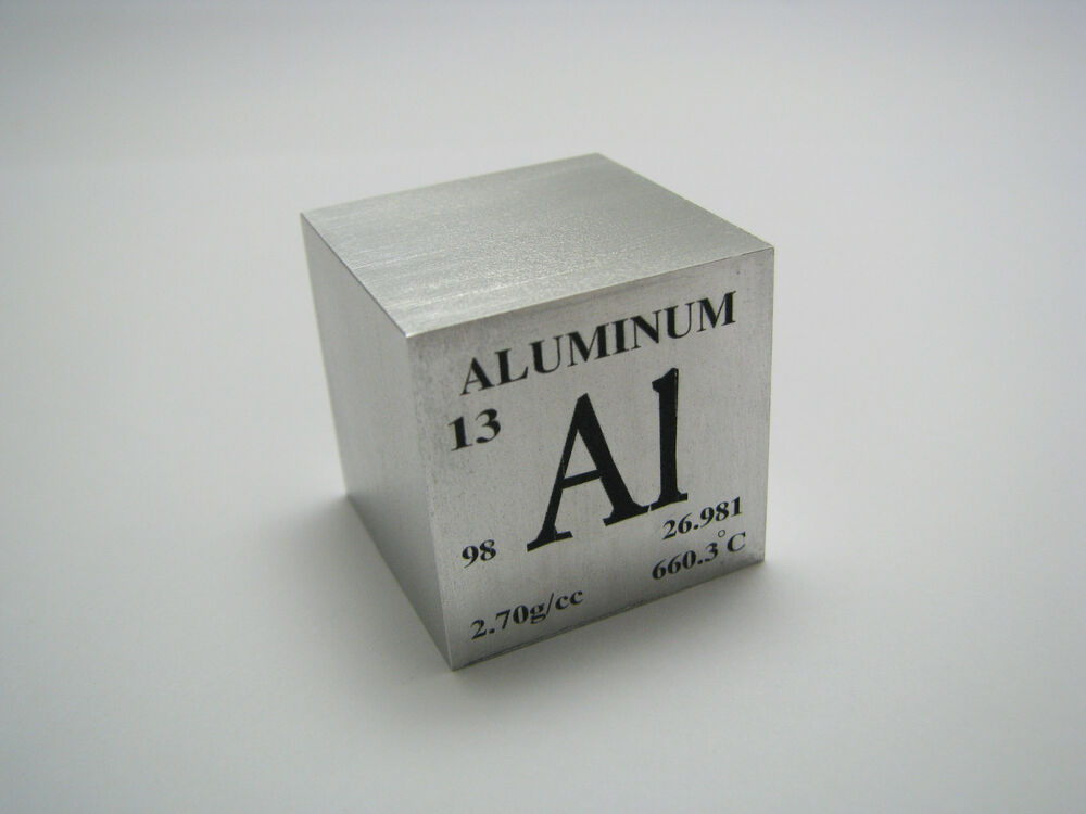 1 inch 25 4 mm pure aluminum metal element cube 98 pure 44 grams ebay. Black Bedroom Furniture Sets. Home Design Ideas