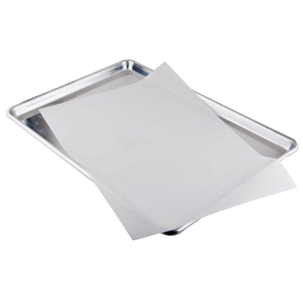 Details About Bleached White Parchment Paper Baking Sheets Pan Liner 16x24 100 Pack