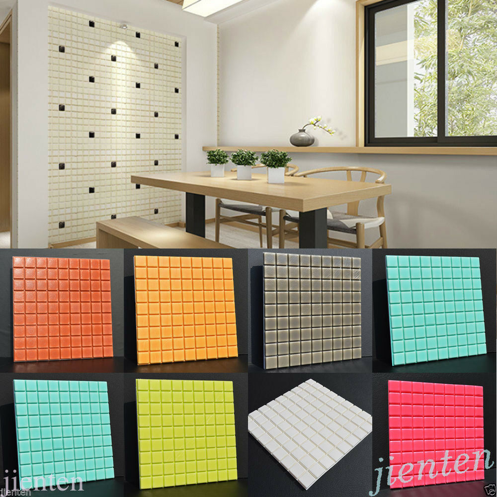 Self Adhesive Mosaic Wall Paper Sticker Tile Floor Kitchen