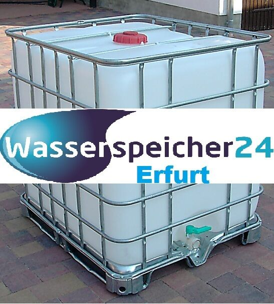 ibc 1000 liter tank wasserspeicher zisterne fass beh lter f r wasser regen ebay. Black Bedroom Furniture Sets. Home Design Ideas