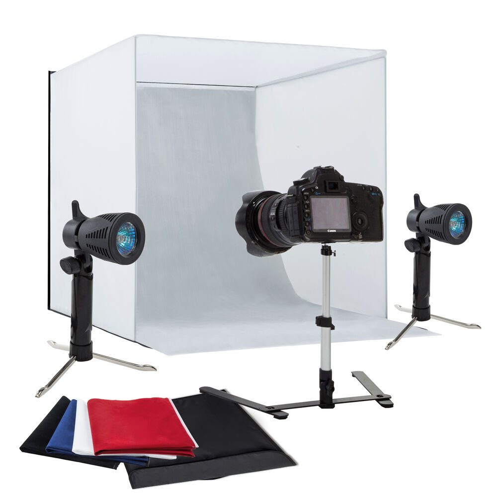 "Optex Photo Studio Lighting Kit Review: 24"" Photography Light Tent Backdrop Kit Cube Lighting Kit"