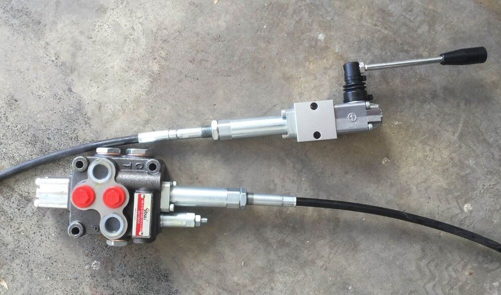 Hydraulic Valve Control Cables : Hydraulic flow control valve spool hand cable