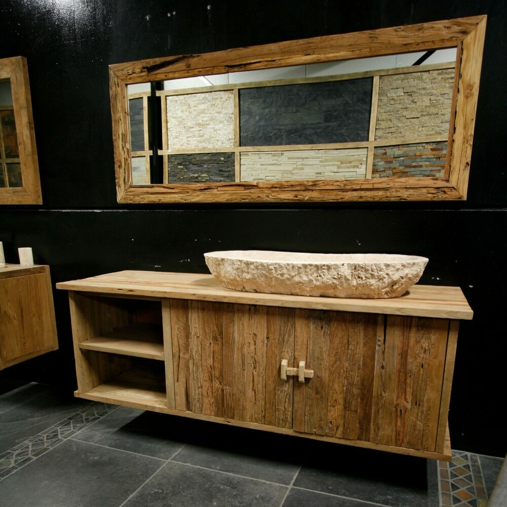 brunei waschtisch teak badm bel frei h ngend 180 l x 55 t x 60 h ebay. Black Bedroom Furniture Sets. Home Design Ideas