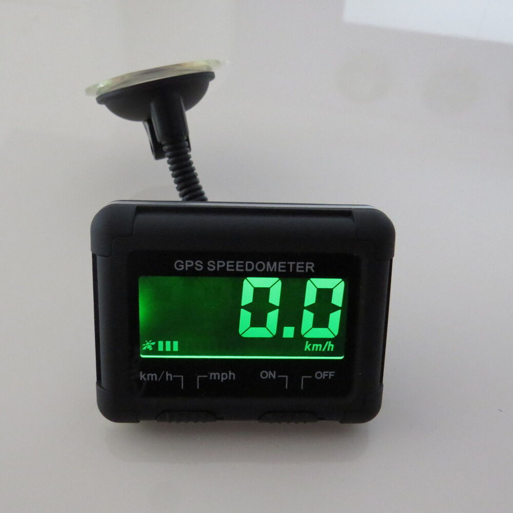 Universal Wireless Digital Gps Speedo Lcd Display Mph Kph