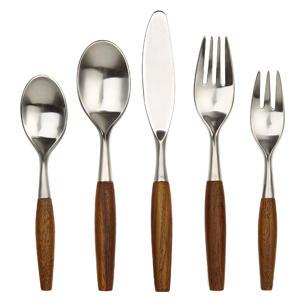 Kitchen Vintage Classic Fjord Teak 1 2 Sets Place Set Flatware Wood New Ebay