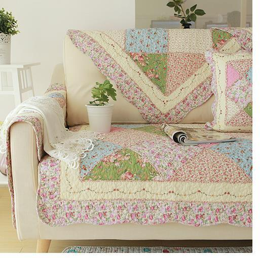 shabby chic cottage country quilted couch sofa loveseat protector cover mat g ebay. Black Bedroom Furniture Sets. Home Design Ideas