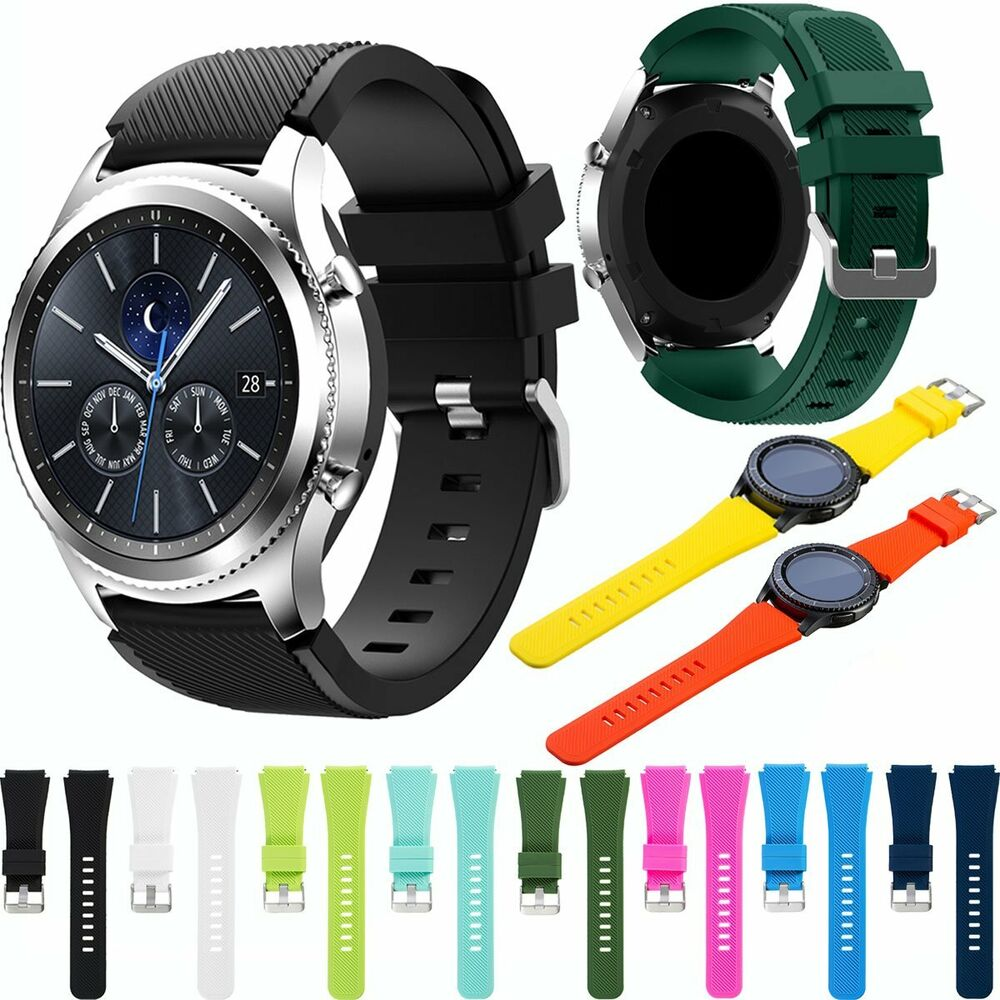 22mm silikon armband uhrenarmband f r samsung galaxy gear s3 classic frontier ebay. Black Bedroom Furniture Sets. Home Design Ideas