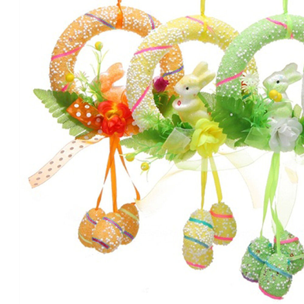 Easter Spring Bunny Party Decor Eggs Egg Rabbit Hanging Ornament Decorations Hot Ebay