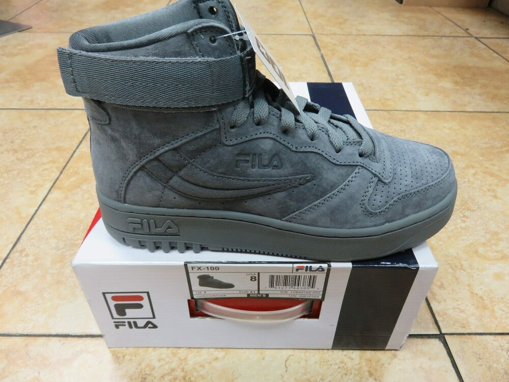 0a6fc106b0a4 Details about FILA MEN SHOES HIGH TOP FX-100 GREY SUEDE CSRK  NEW RELEASES   ALL SIZES