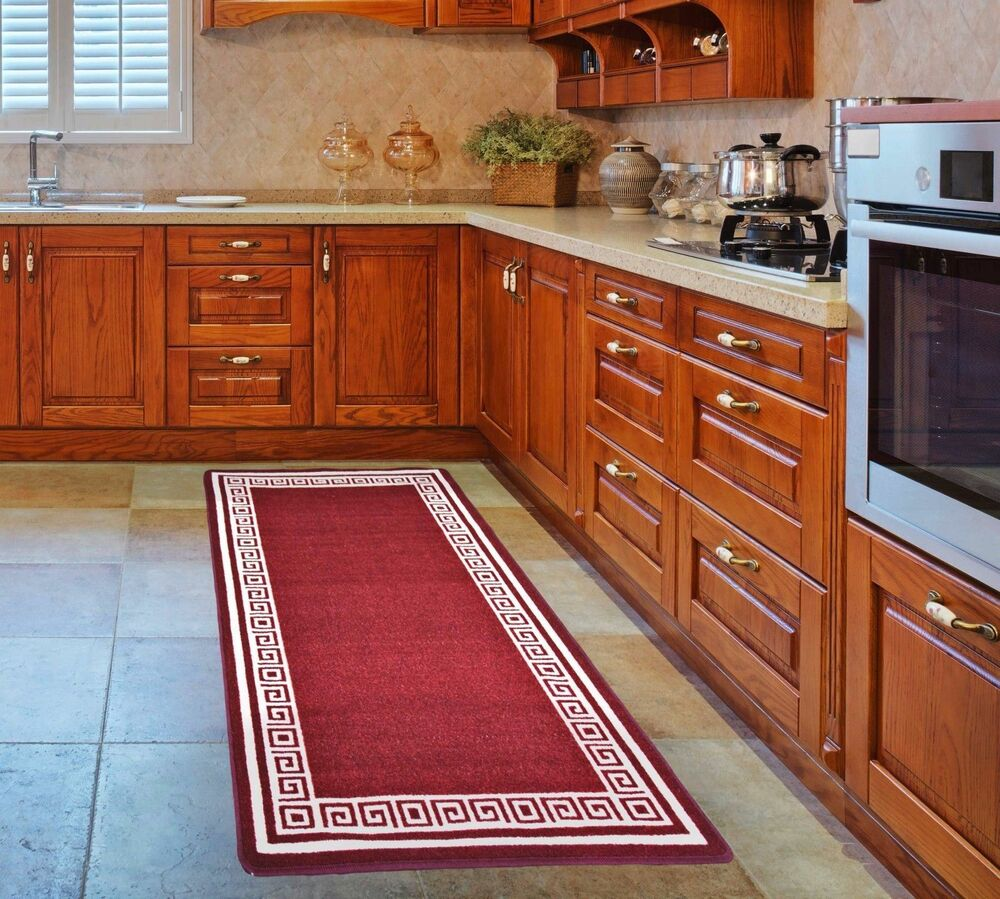 Machine washable kitchen hall door mat runner non slip for Small rugs for kitchen