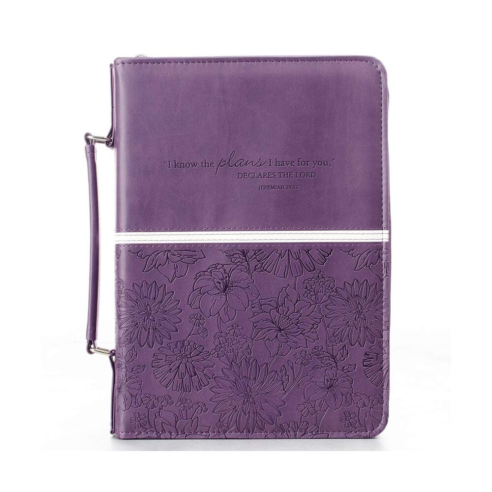 Book Cover Case : Floral embossed bible book cover jeremiah large