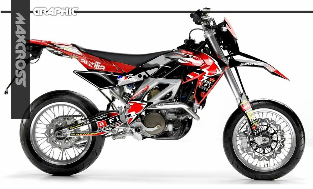 aprilia rxv sxv 450 550 2006 2011 7 5l version maxcross graphics kit full decals ebay. Black Bedroom Furniture Sets. Home Design Ideas