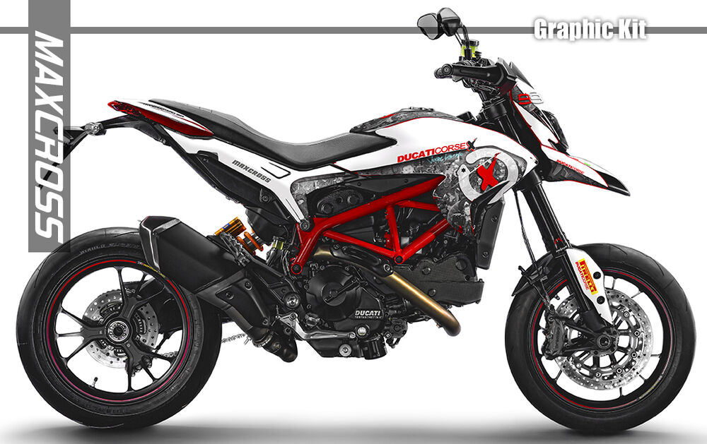 ducati hypermotard hyperstrada 821 939 maxcross graphics full kit decals ebay. Black Bedroom Furniture Sets. Home Design Ideas