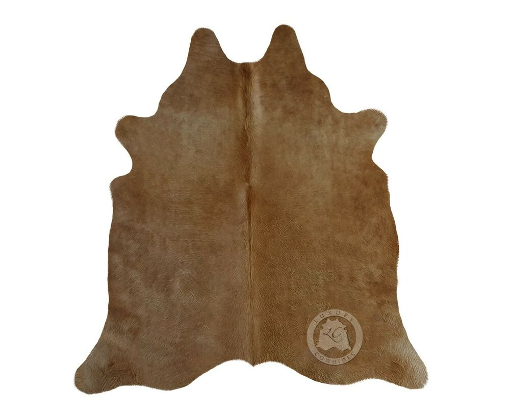 New Brazilian Cowhide Rug Leather Beige Palomino And White