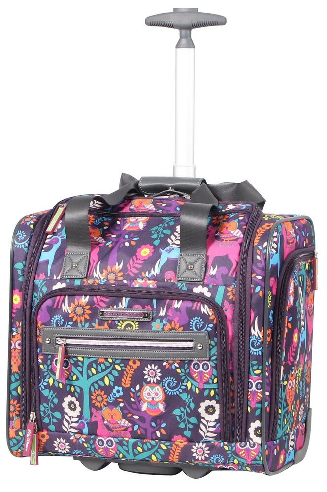 New Lily Bloom Under The Seat Design Pattern Carry On Bag