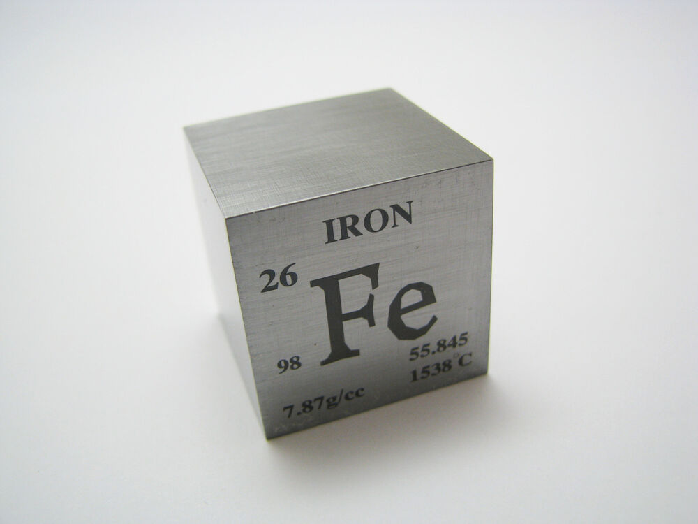 1 Inch 25 4 Mm Iron Metal Element Cube Periodic Table 98