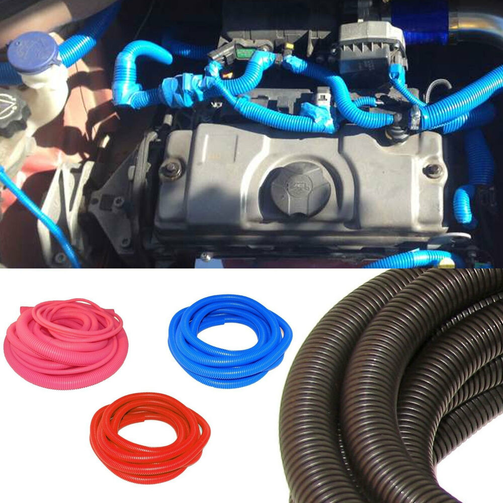 engine dressing conduit wiring cover kit pvc hose pipe cover split cable ties ebay. Black Bedroom Furniture Sets. Home Design Ideas