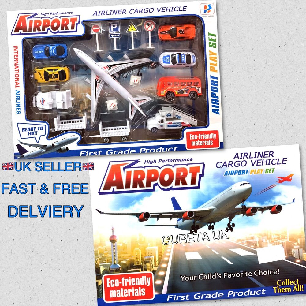 Toys For Grade 1 : Kids airport play set toy airline cargo vehicle first
