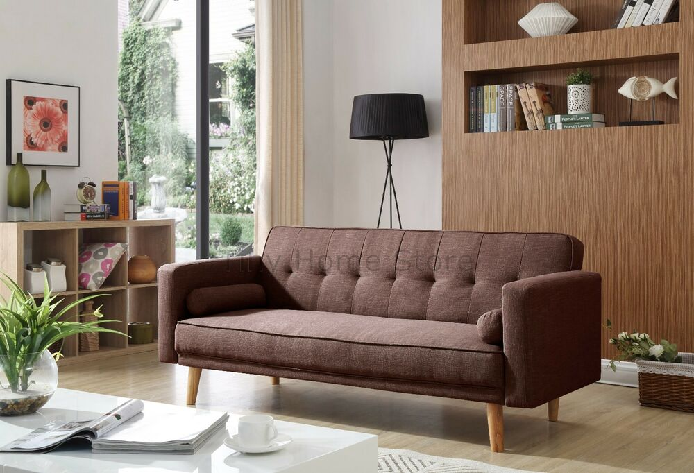 Oslo Luxury Modern 3 Seater Padded Fabric Sofabed With
