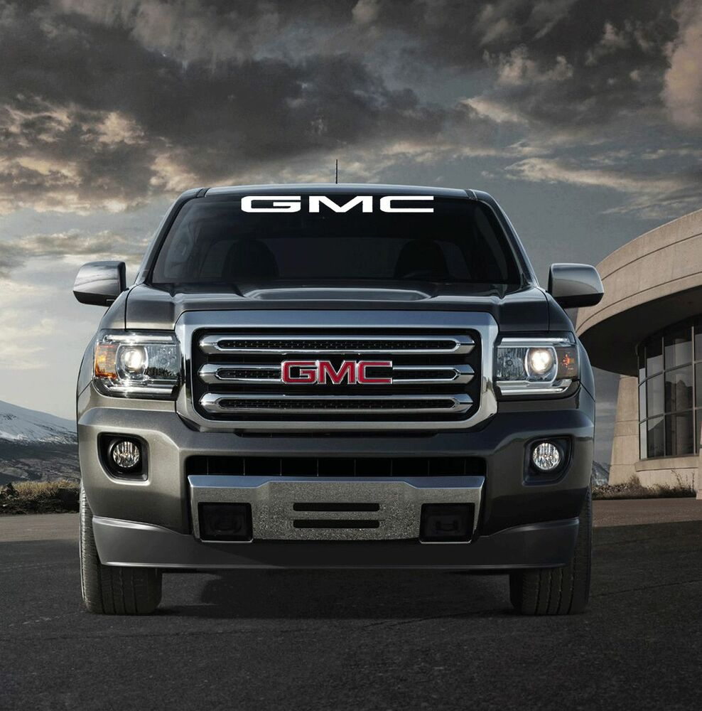 "GMC WINDSHIELD BANNER 36""X4"" SUV TRUCK STICKER DECAL"