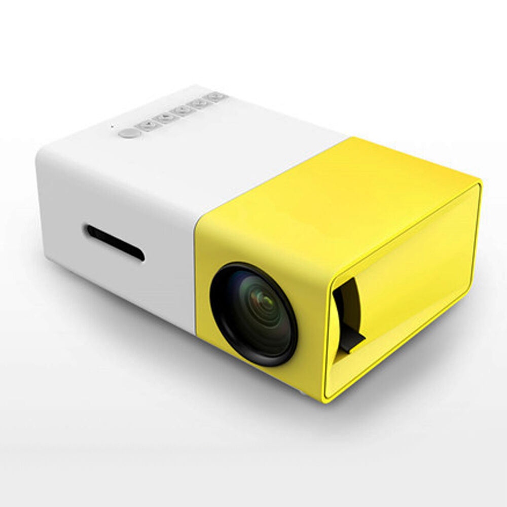 Mini 1080p Full Hd Led Projector Home Theater Cinema 3d: YG300 Full HD Mini Smart Projector LED DLP Home Theater