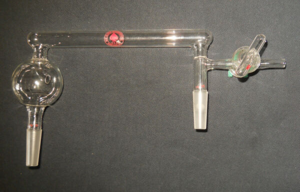Ace Glass 14/35 Trap-to-Trap Distillation Connecting Tube with 2mm Stopcock