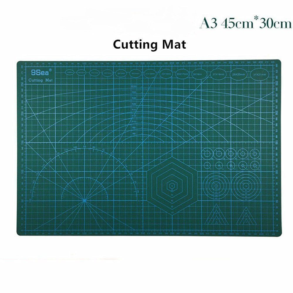 A3 cutting mat pvc self healing craft quilting grid lines for Cutting mat for crafts