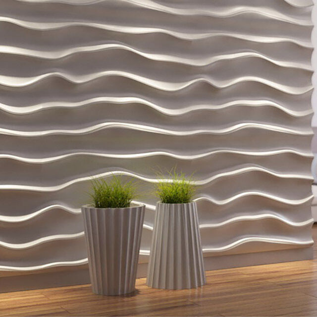 1 Pcs Abs Plastic Mold For Plaster 3d Decorative Wall