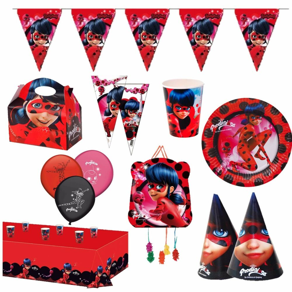Miraculous ladybug kindergeburtstag mottoparty deko for Mottoparty deko