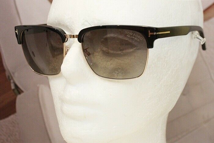3ba2c9d96ecb0 Details about TOM FORD River TF 367 FT 0367 POLARIZED sunglasses 01D Black  Gold 100% Authentic