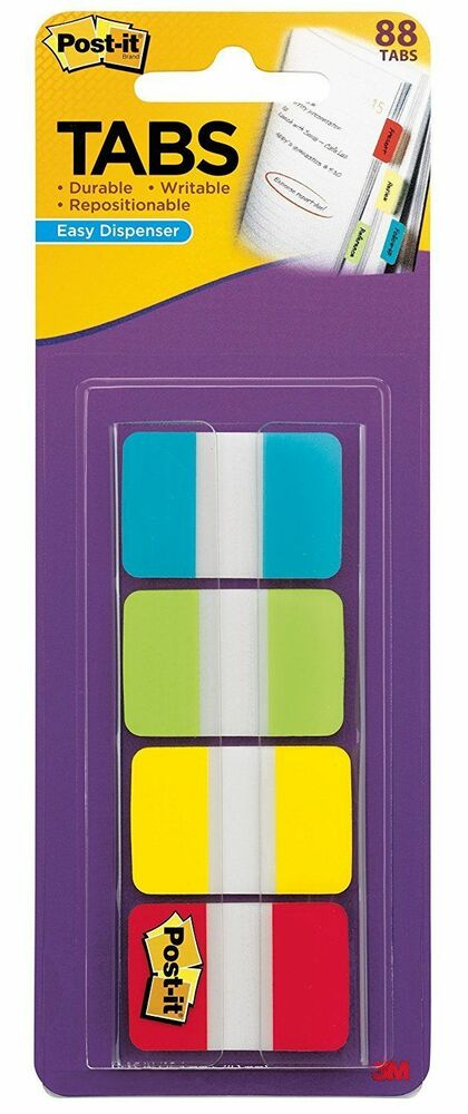 3m post it tabs 625 x 1 5 writable repositionable 4 for Pool 5 in 1 tabs