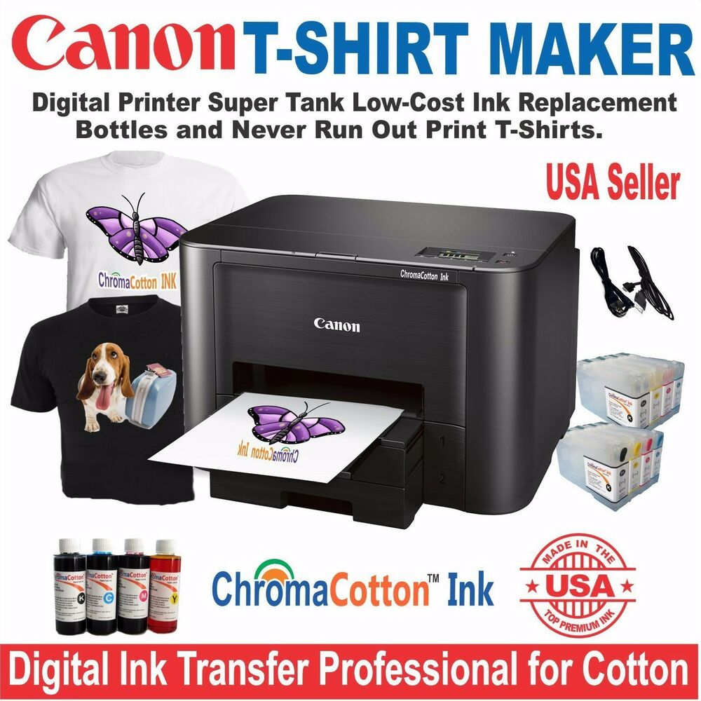 Canon printer t shirt maker plus bulk print cotton ink for Laser printing machine for t shirts