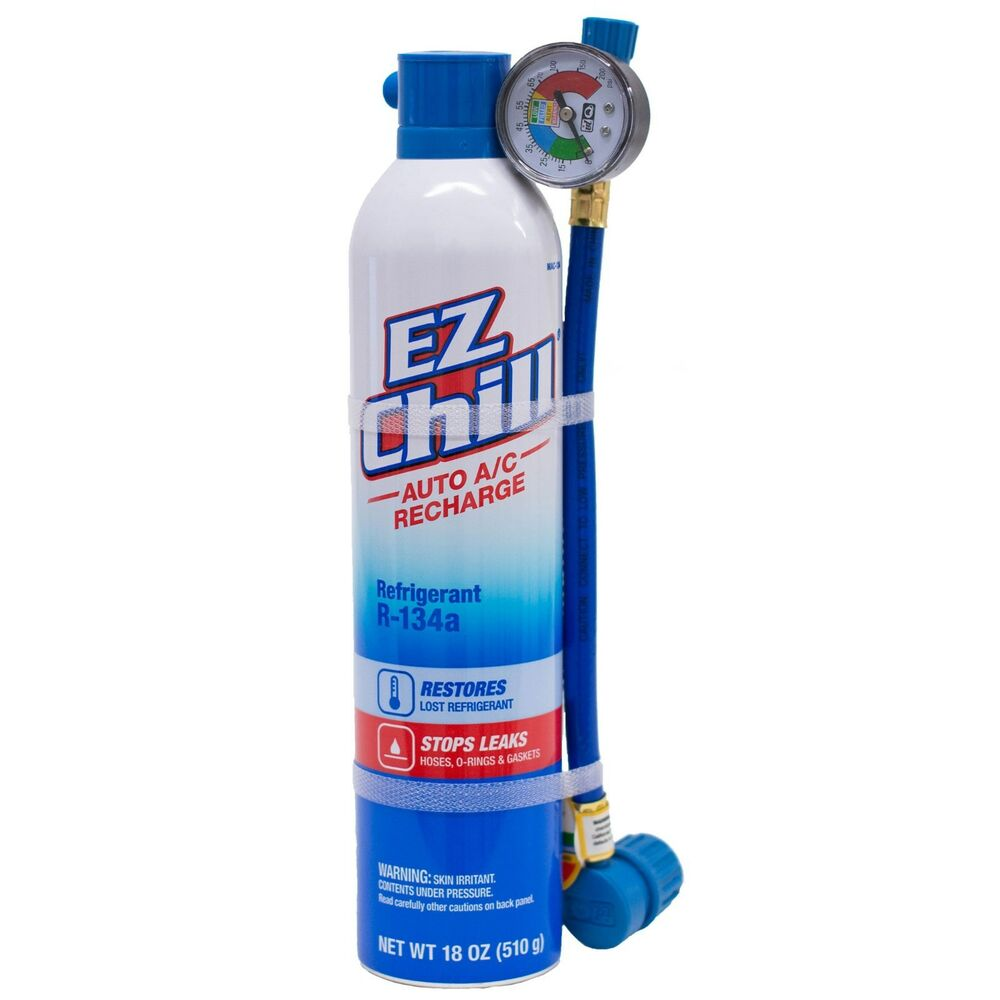 Ezchill 18oz Air Conditioning Refrigerant W Oil Ac Cooling