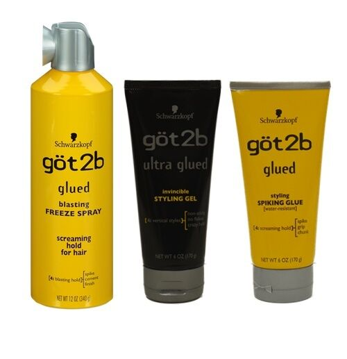 hair spray for styling got2b ultra glued styling gel spiking glue blasting freeze 6043