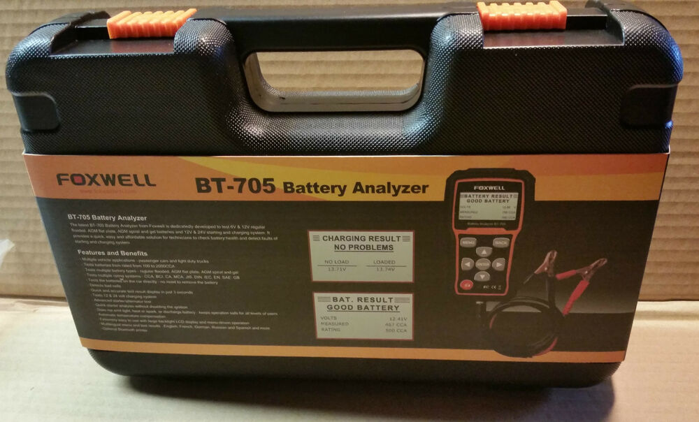 Foxwell Bt705 Car Battery Load Tester & Charging System ...