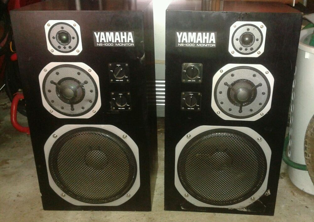 YAMAHA NS-1000 M MONITOR SPEAKERS MATCHED L R PAIR LOOKING GOOD ...