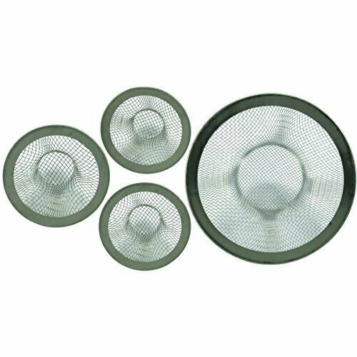 4 Pc Mesh Sink Strainer Set Drain Kitchen Bathroom Tub