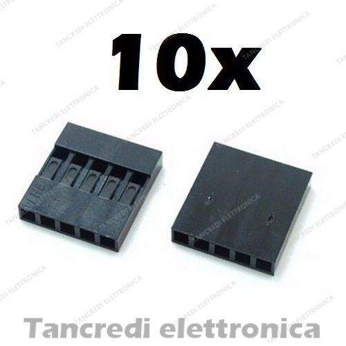 10x connettore dupont 5 pin vie poli contatto femmina maschio connectors header