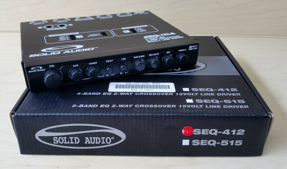 Solid Audio SEQ-412 Pre-Amp 12 Volt RCA Output With 2 Way Crossover | eBay