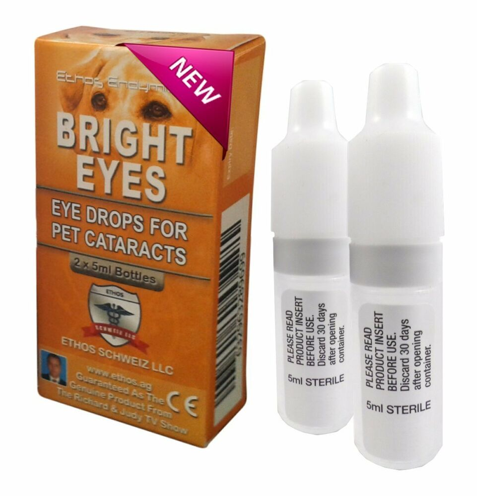 Eye Drops for Dogs and Pets with Cataracts Ethos Bright Eyes 1 Box ...