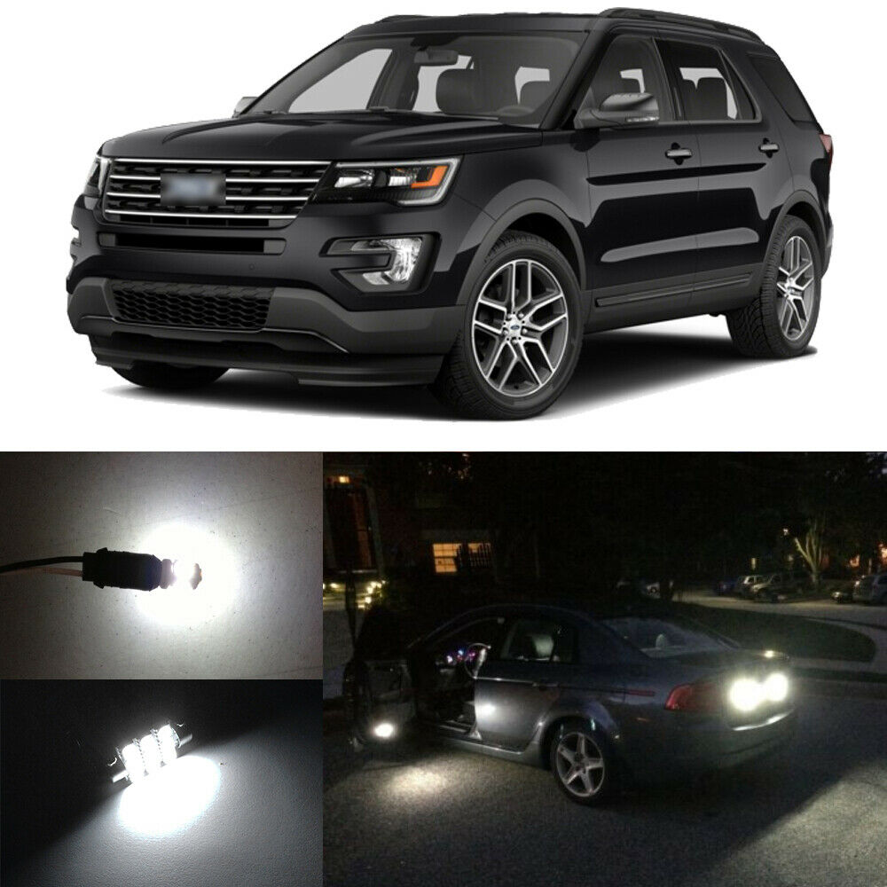 12 X White LED Interior Bulbs + Reverse + Tag Lights For