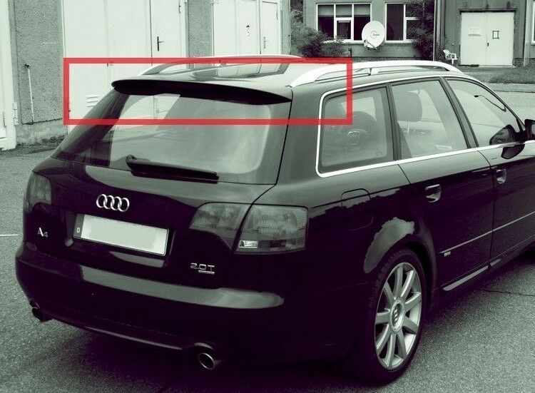 audi a4 b6 b7 avant sline rs look rear spoiler grp white or black ebay. Black Bedroom Furniture Sets. Home Design Ideas