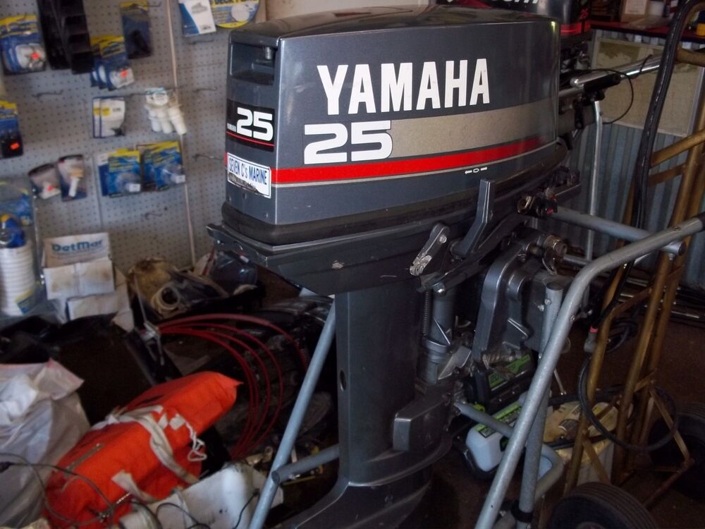 25hp Yamaha Outboard Motor 2 Stroke Short Shaft Tiller Handle Parts 1997