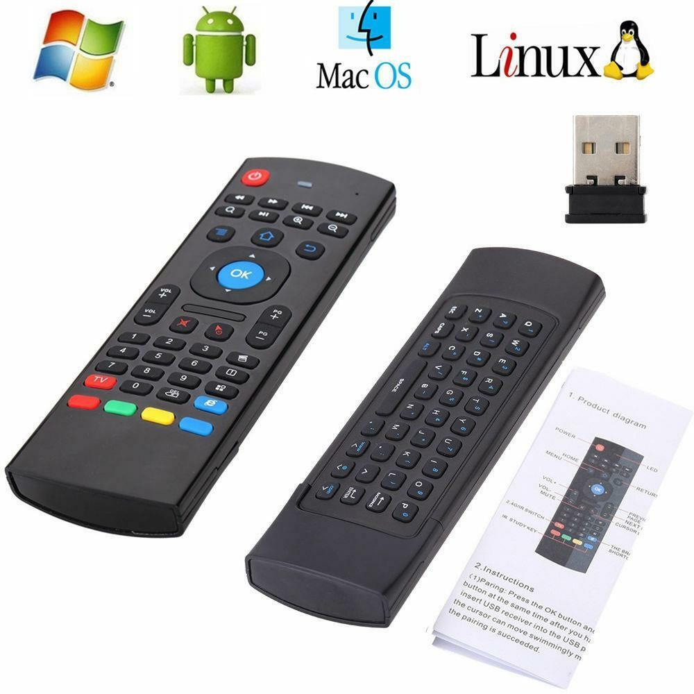 mx3 2 4ghz wireless air fly mouse keyboard remote control for android tv pc us ebay. Black Bedroom Furniture Sets. Home Design Ideas