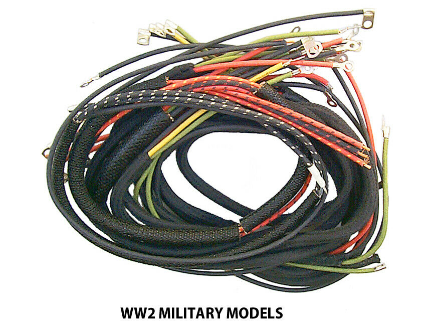 Nos Style Wiring Harness Complete For Harley Ww2 Military